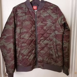 Columbia camo quilted jacket